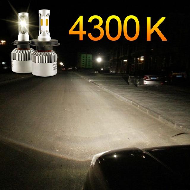 hlxg 2PCS H7 H4 LED H1 H11 4300K HB3 HB4 Car Headlight Bulbs 8000LM Super Bright Conversion led automotivo Automotive Headlamp
