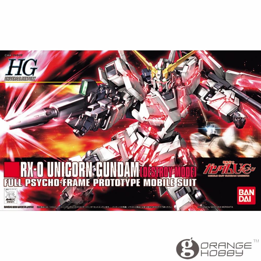 OHS Bandai HGUC 100 1/144 RX-0 единорог Gundam уничтожить режим мобильный костюм сборки модель Наборы