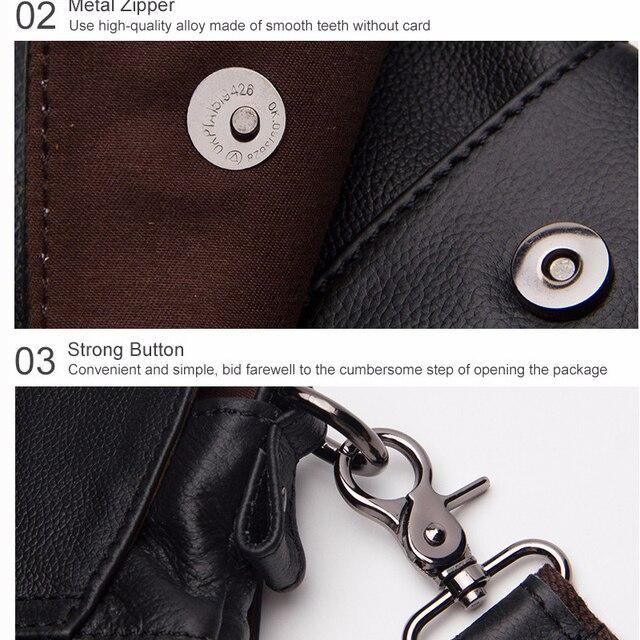 Messenger Bag Men Genuine Leather Men's shoulder bags male Casual Zipper Crossbody Bags for men handbags 5
