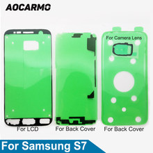 "Aocarmo LCD Screen + Back Battery Cover Frame +Camera Lens Sticker Full Set Adhesive Tape For Samsung Galaxy S7 G930 5.1""(China)"