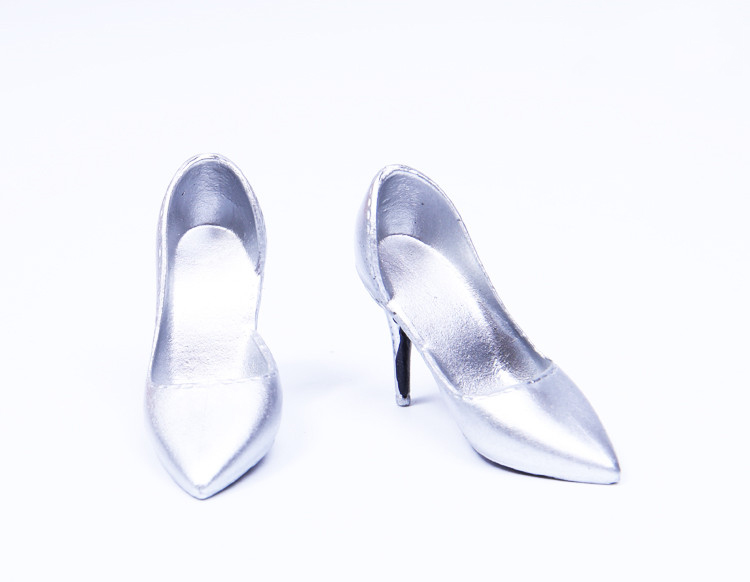 Image 4 - 1/6 Scale Female Shoes Soft High heel Shoes For Phicen JIAOU Doll Action Figures AccessoriesAction & Toy Figures   -