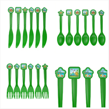 6pcs Dinosaur theme fork knive spoon for kids birthday party supply Tableset decoration