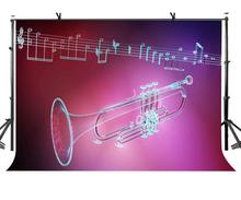 7x5ft Musical Instrument Backdrop Red Music Photography Background and Studio Props