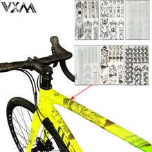3D MTB Bike Scratch-Resistant Protect Frame Protector Removeable Sticker Road Bicycle Paster Guard Cover Bicycle Accessories(China)