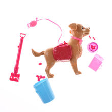 1:6 Doll House Accessories Plastic Dog Food Bones Outside Puppet Toy Dog Pet Sets For Barbie Ken Doll Play House Early Education(China)