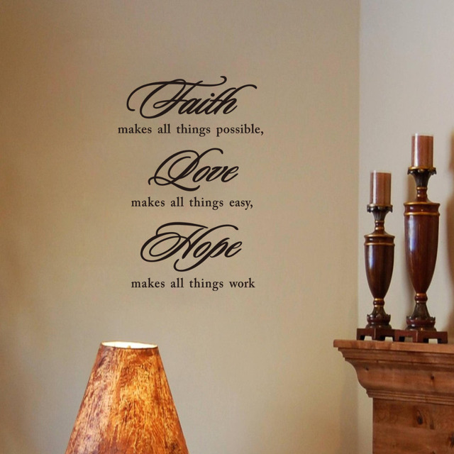Faith Love Hope Wall Sticker Vinyl Quotes And Sayings Home Unique Faith Love Hope Quotes