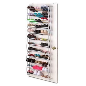 White Hanging Shoe Rack Creative Four-layer Over Door Shoes Shelf Slippers Holder Organizer Rack for Living Room Bathroom