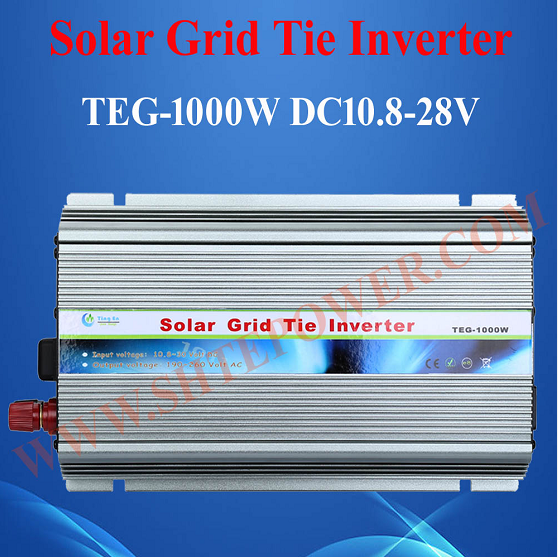 pure sine wave single phase 10.8-28vdc to 190-260vac 1000W Grid Tie Inverter for home use micro inverters on grid tie with mppt function 600w home solar system dc22 50v input to ac output for countries standard use