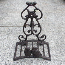 Small Cast Iron Hose Holder 2 Birds Tap Design Garden Hose Hanger Metal Hose Reels Wall Mounted Vintage  Home Cottage Decoration topower pipe wall mounted hat and coat hanger vintage industrial steam valve 2 3 4 5 iron water pipe tap metal