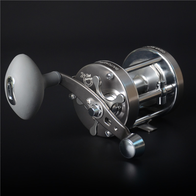 цена на CL70 full metal drum fishing reel 3 bearing trolling wheel fishing vessel boat reel bait casting fishing reel fishing tackle