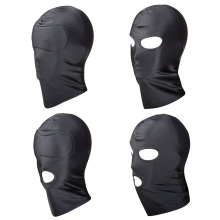 купить Fetish Mask Hood Sexy Toys BDSM Bondage Open Mouth Eye Party Mask Adult Games Cosplay Slave Punish Headgear Erotic Sex Products дешево
