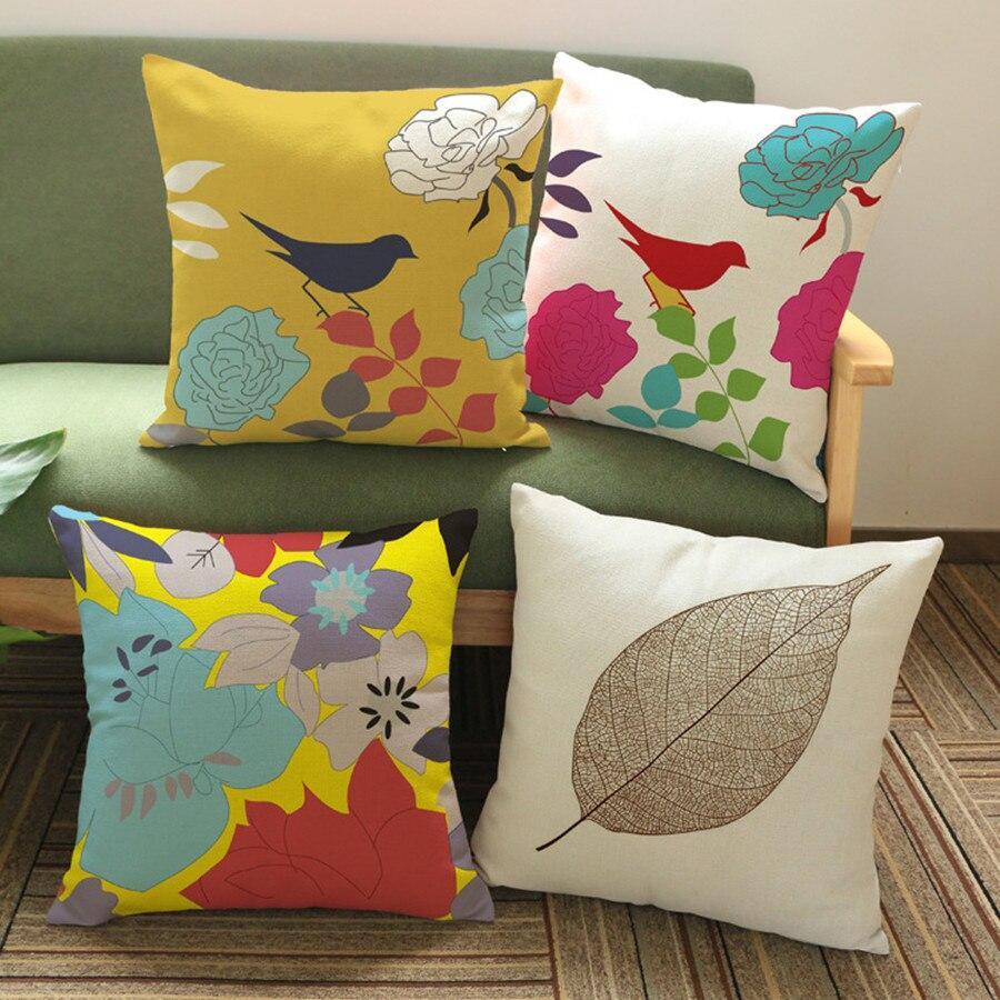 popular kids cushion coverbuy cheap kids cushion cover lots from  - creative bird pattern cotton pillow cover pillow cushion cover kids beddingsets pillowcase gift throw pillow