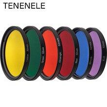 DSLR filtr kamery 37 40.5 43 46 49 52 55 58 62 67 72 77 62 67 72 77 mm pełna czerwony/niebieski/zielony/żółty kamera kolorowa akcesoria do obiektywu