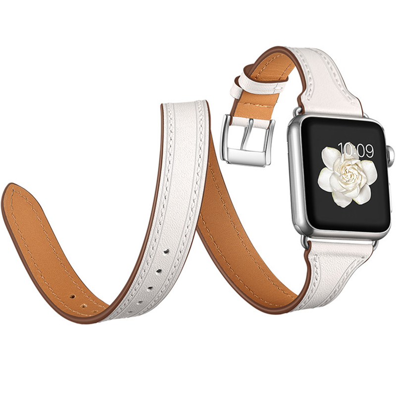 Fashion Luxury Band for Apple Watch 3 Strap Genuine Leather Stainless Metal Buckle Replacement Wristband for iWatch 38mm 42mm цвета apple watch 4
