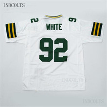 Throwback  92 Reggie White Embroidered Retro star Football Jersey free  shipping INDCOLTS(China) feac49d85