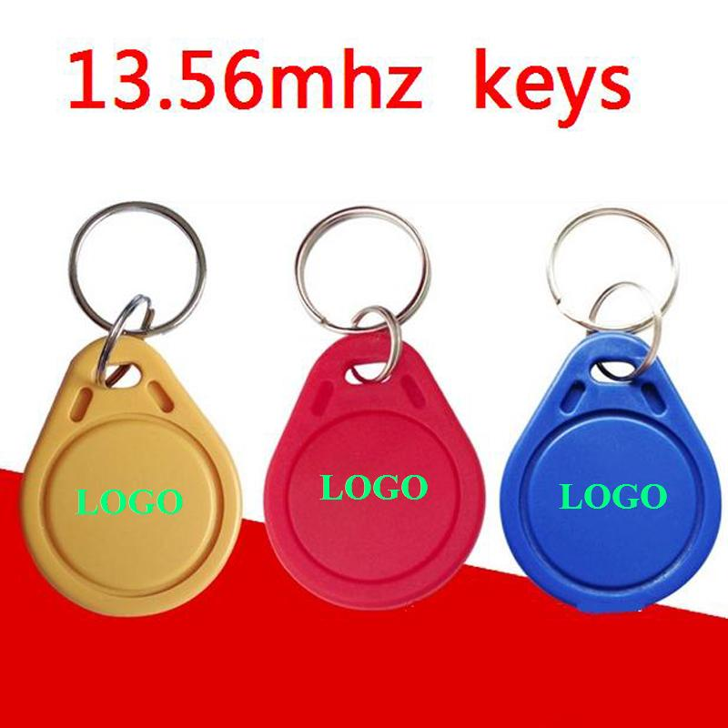 Custom LOGO printing RFID Card Token Key Rfid Tag Access Control Acceso Pulseira 3 COLOR Smart Card ID Keyfobs winfeng 500pcs lot custom printing irregular pvc die cut combo key chain card 3 parts combo card easy snap off key card