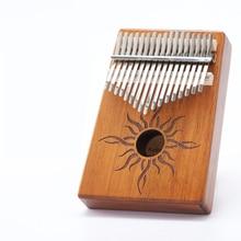 Scoutside 17 клавиш Kalimba большой палец пианино сделано одной доской высококачественный деревянный корпус из красного дерева музыкальный инструмент