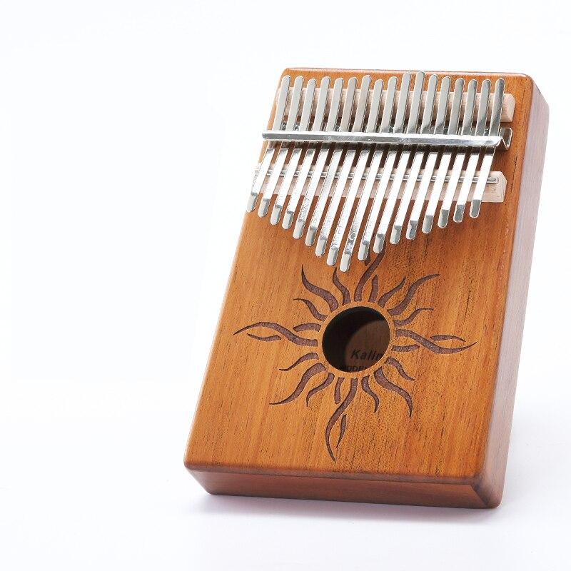 Scoutdoor 17 clés Kalimba Piano à pouce fait par planche unique de haute qualité en bois acajou corps Instrument de musique
