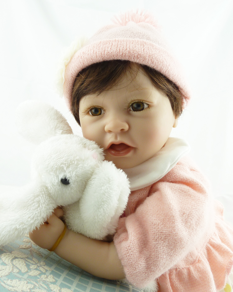 55cm Silicone Reborn Doll Lifelike Baby Newborn Baby-Reborn Dolls Christmas Birthday Gift Brinquedos for Kids silicone reborn baby doll toy lifelike reborn baby dolls children birthday christmas gift toys for girls brinquedos with swaddle