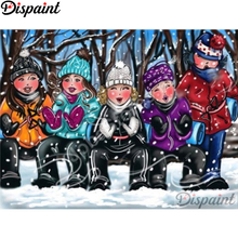 Dispaint Full Square/Round Drill 5D DIY Diamond Painting Cartoon woman 3D Embroidery Cross Stitch Home Decor A18439