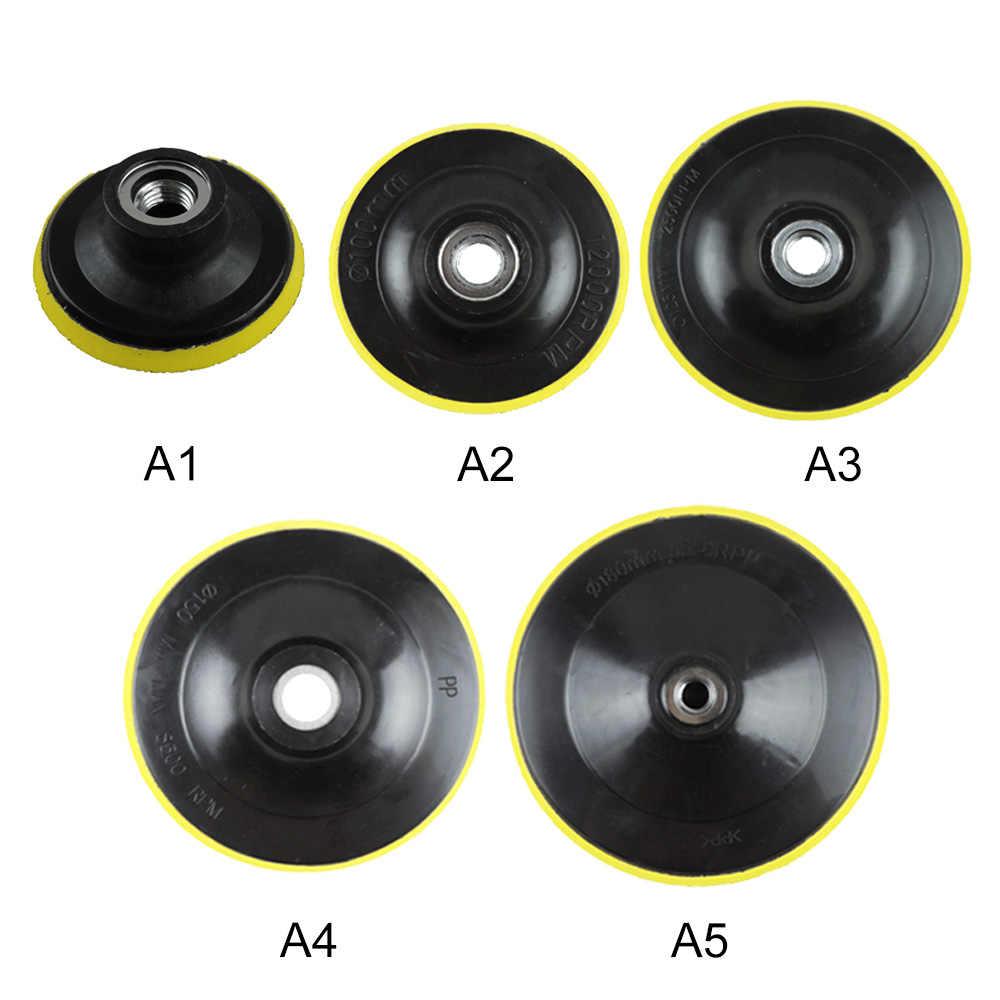 M14 подложка автомобиля полировщик капота диаметр 3' 4' 5' 6' 7' дюймовый угловой шлифовальный круг шлифовальный бумажный диск Авто полировальный станок инструмент