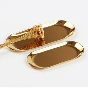 Image 1 - (ET) plate de papelería simplicidad del viajero. Electrochapado de acero inoxidable dorado. Muy bonito retro la disposición de tb