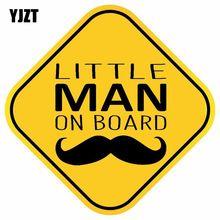 Yjzt 15.5 cm * 15.5 cm homem pequeno a bordo pvc decalque carro adesivo 12-40129