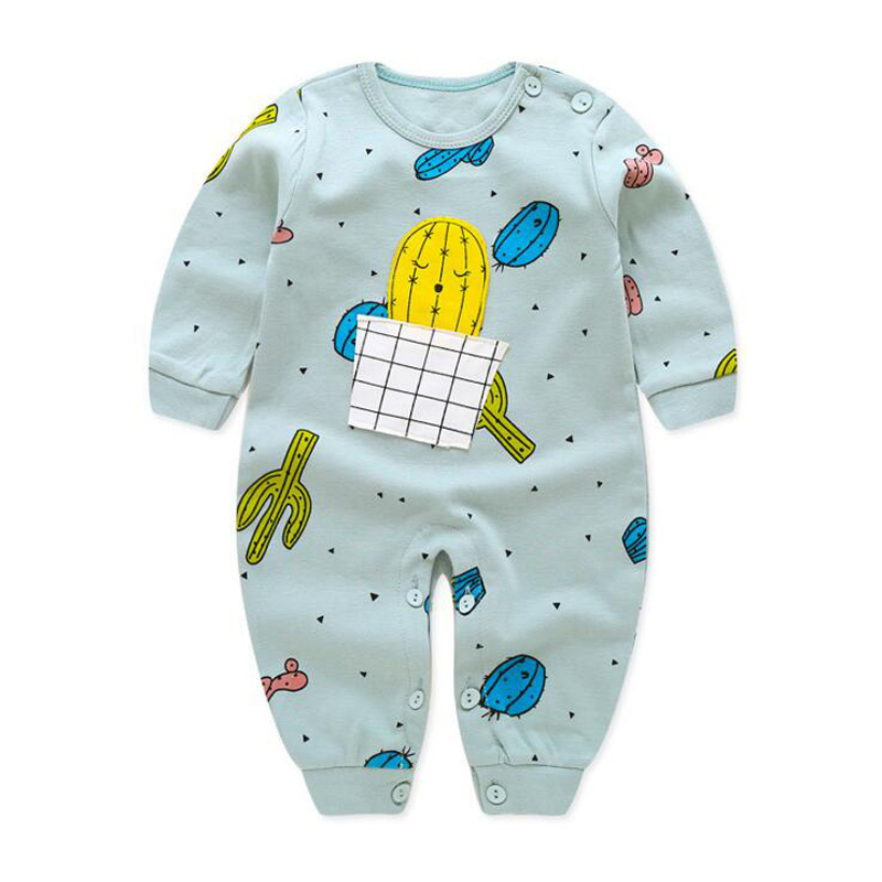 2018 Newborn Baby Girl Boy   Rompers   cotton infantil clothing kids   romper   cartoon
