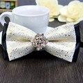 Бесплатная Доставка новых мужских мужчины Luxury double diamond печати серебро галстук-бабочка платье галстук ужин состоялся жених на продажу 6589