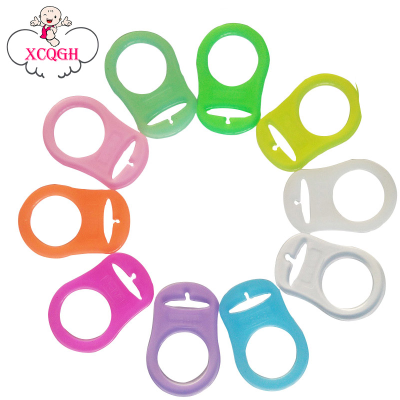 10pcs//Set O-Rings Silicone Baby Dummy Pacifier Chain Clips JS