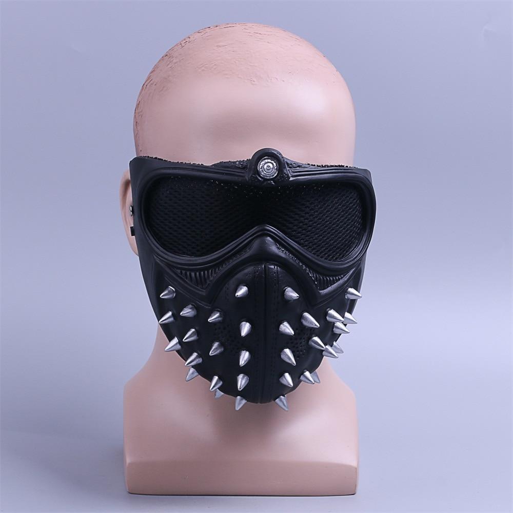 Watch Dogs 2 Mask Marcus LED Light Mask Rivet Face Mask Cosplay Handmade Mask3