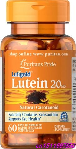 Pride Lutein with Zeaxanthin 20mg*60 Nutritionally support health of eyes Important for vision Naturally found in healthy eyes by health 1220mg 60