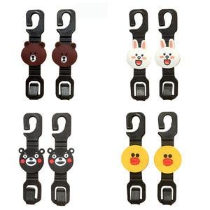 Image 5 - 2 pièces universel multifonctionnel broches clips siège de voiture crochet cintre dans la voiture trucs support suspension Auto intérieur accessoire