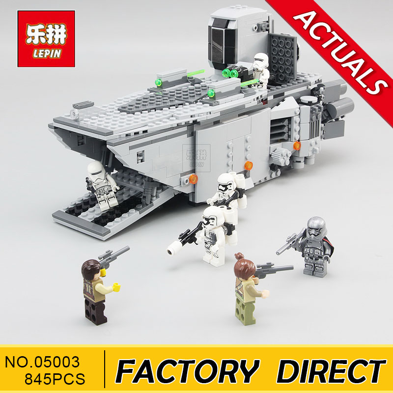 LEPIN 05003 845 Pcs Star Set Wars First Order Transporter assembled building block Bricks Compatible With Legoings 75103 karinluna new big size 32 43 peep toe summer party shoes women 7 colors sexy 16cm thin high heels fashion red pumps shoes