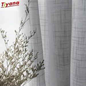 Modern Grey Cotton Linen Tulle