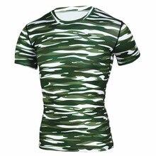 Темно-зеленые полосатые футболки с принтом Мужская компрессионная футболка топы Мужские Кроссфит фитнес спортивная одежда колготки рубашки для бега Joggin