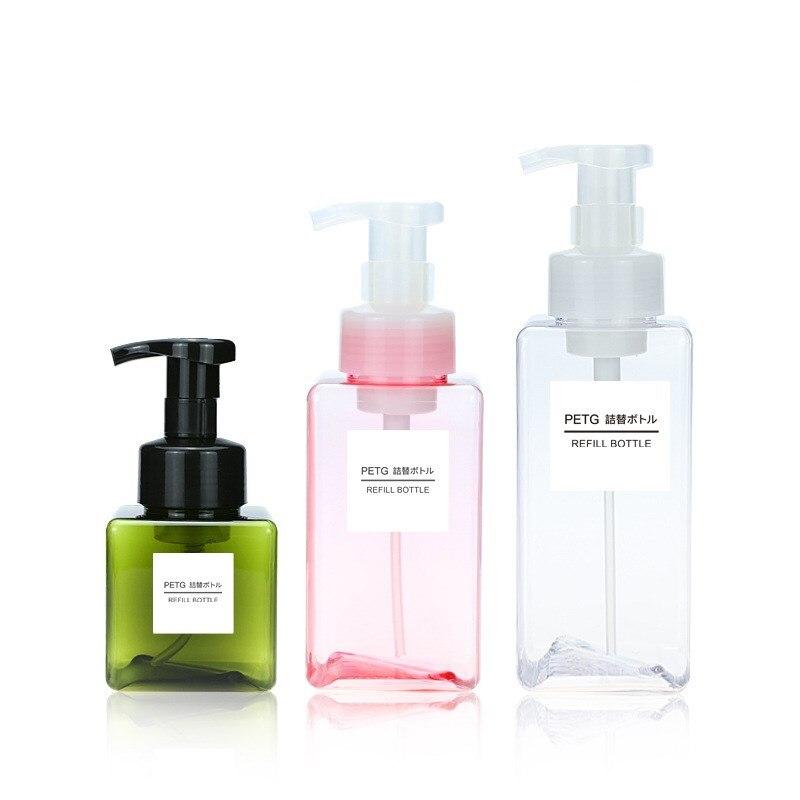 450/650ml Mousse Foaming Soap Pump Bottle Toilet Hand Soap Dispenser Kitchen Bathroom Shampoo Shower Gel Liquid Dispenser Bottle