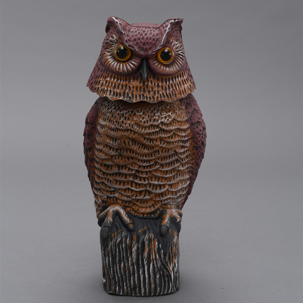 ZILIN Garden Defense Wind Action Owl /Bird Scaring Owl Decoy 17*17*