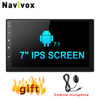 Navivox 7 Android 7.1.1 Car Multimedia Player 1din Universal GPS Radio GPS Stereo Audio Player for Nissan ,for Hyundai (no dvd)