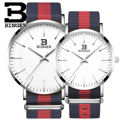 Geneva Binger New Casual women mens watches fashion Nylon Quartz Watch reloj mujer Lovers Wristwatch geneva new jd mk
