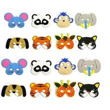 12Pcs/Set New Arrival Mask Birthday Party Supplies EVA  Animal Masks Cartoon Kids Party Dress Up  Zoo Jungle Mask Party Supplies