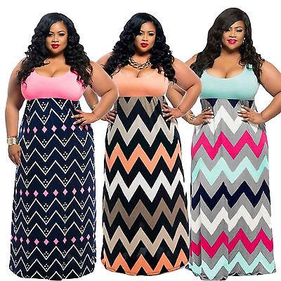 Plus Sze Women BOHO Sleeveless Long Maxi Dress 2017 Summer Striped Party Beach Dress Sundress Cheap Clothing XL-4XL