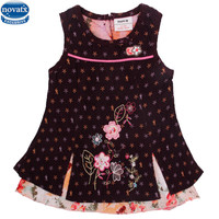 Novatx H2003 New Arrival Girl Dress Summer Children Clothes Newest Design Sleeveless Floral With Flower Girl