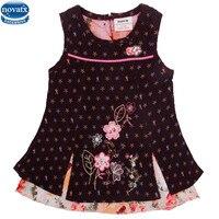 Novatx H2003 New Arrival Girl Dress Summer Children Clothes Newest Design Sleeveless Floral With Flower Girl
