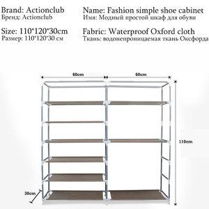 Image 5 - On Sale Cheapest Large Shoe Storage Cabinet Non woven Cloth Shoe Organizer Shelf DIY Assembly Dust proof Shoes Shelves Shoe Rack