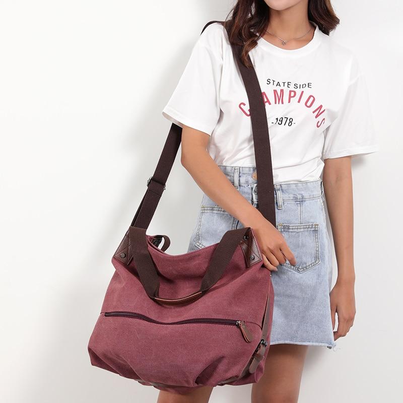 Image 2 - Crossbody Bags for Women 2019 Canvas Tote Bag womens Handbags Ladies cotton Hand Bag Bolsos Mujer Lady Shoulder BagTop-Handle Bags   -