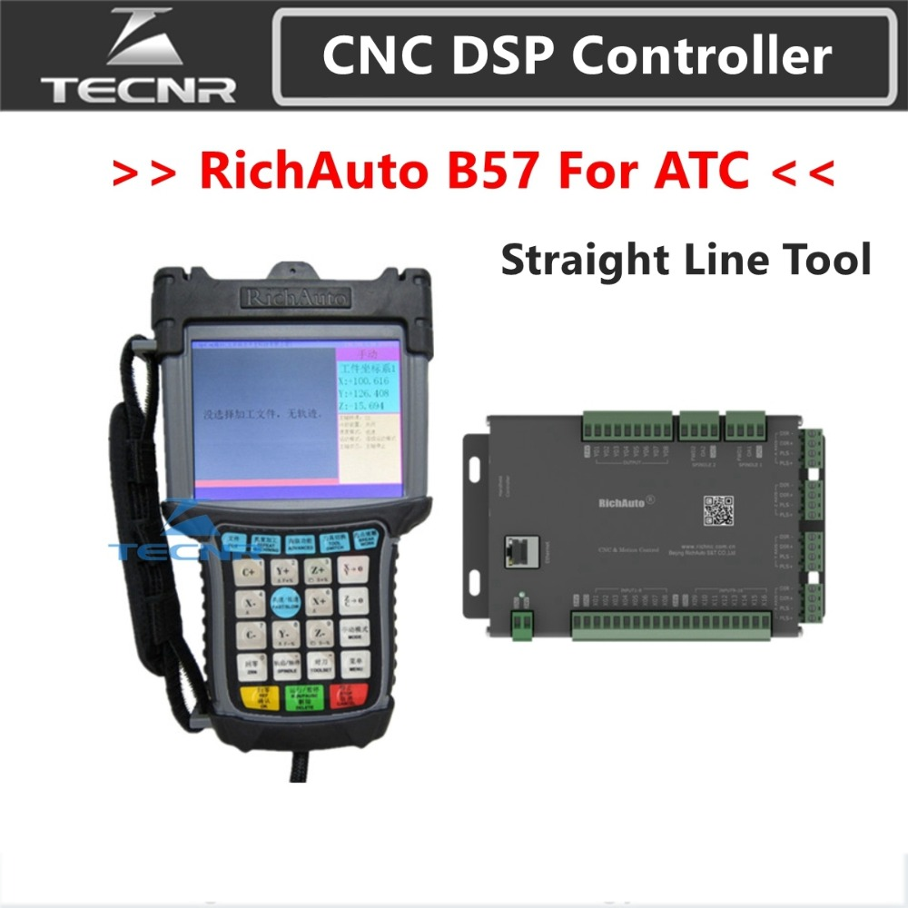 RichAuto DSP B57 CNC Controller B57S B57E 3 Axis Controller For Automatic Tool Change Straight Line Tool Cnc Machine