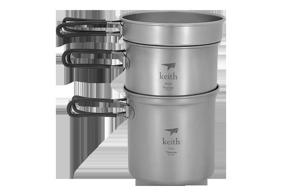 Keith Keith Multi-use Lightweight  Titanium Pot Camp CookwarePicnic Pan KP6012/ KP6013/KP6014 for Outdoor Camp Household keith kp6012 titanium pot