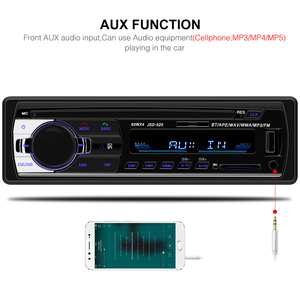 Image 5 - Car Radio Autoradio 1 Din Bluetooth SD MP3 Player Coche Radios Estereo Poste Para Auto Audio Stereo Carro Samochodowe Automotivo
