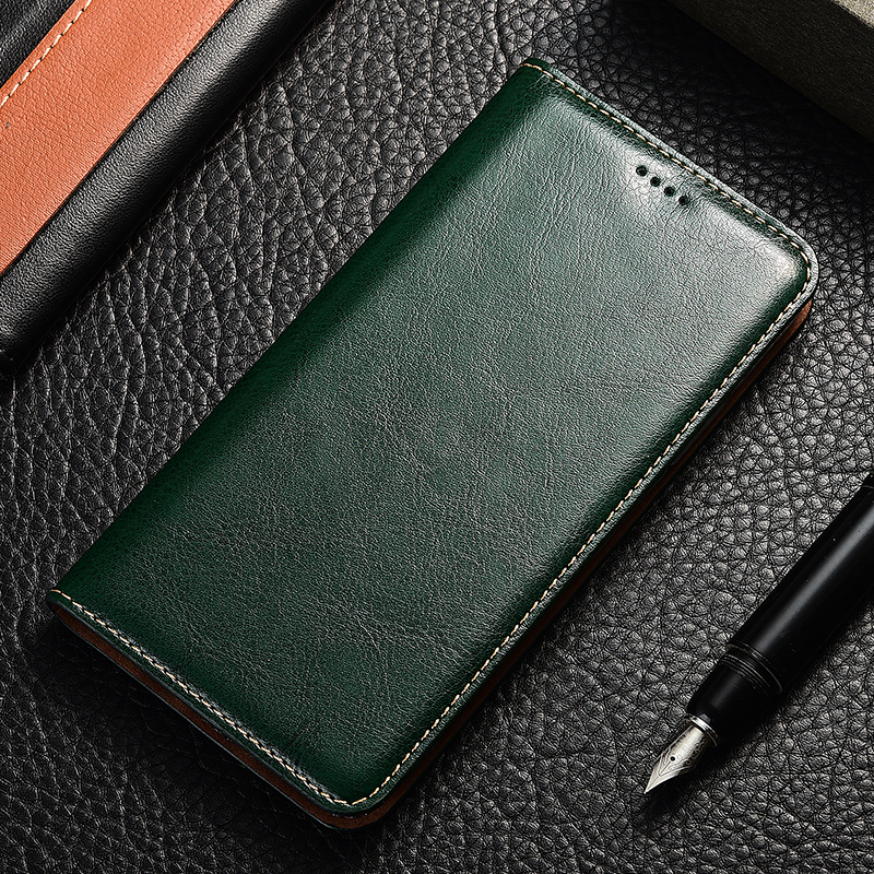 Genuine Leather <font><b>Flip</b></font> <font><b>Case</b></font> For Huawei <font><b>Honor</b></font> 4a 4c 4x V9 V10 V20 Play Mate 8 <font><b>9</b></font> 10 20 RS SE Pro <font><b>Lite</b></font> Crazy horse Holder Back cover image